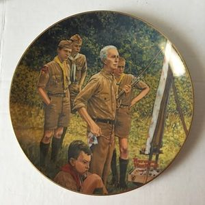 Norman Rockwell BSA large plate by Gorham